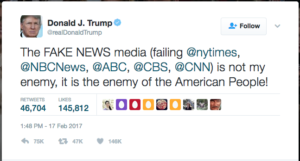 Trump - Media the enemy of the people